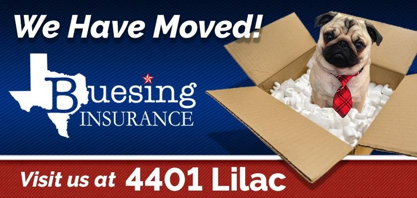 Russell Buesing Insurance has moved to 4401 Lilac Lane
